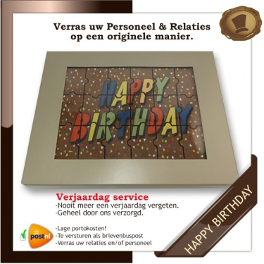 Verjaardags service <br>Happy Birthday