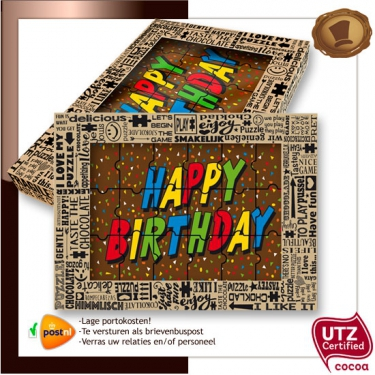 Chocolade Puzzel  Happy Birthday