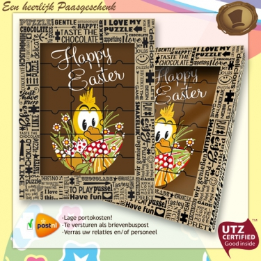 Chocolade Puzzel <br>Happy Easter