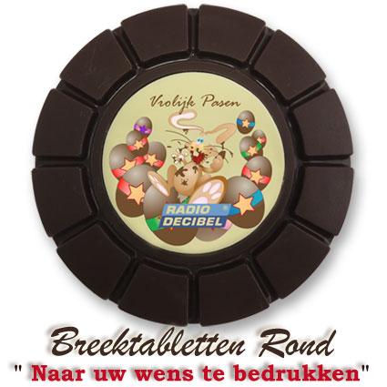 Chocolade Breektabletten Rond Pasen