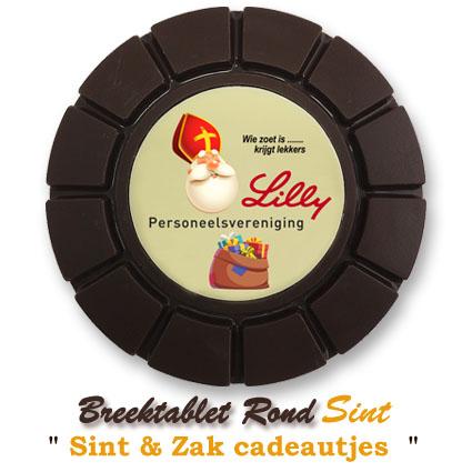 Chocolade Breektablet Rond Sinterklaas - Sint & Zak cadeautjes