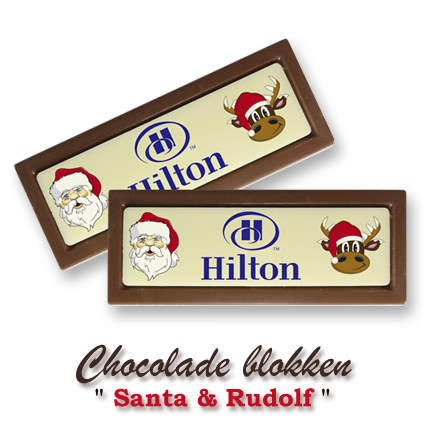Chocolade Blokken Kerst  - Santa & Rudolf