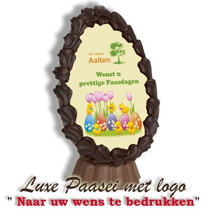 Chocolade Paasei met logo