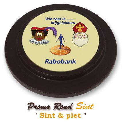 Chocolade Promo Rond Sinterklaas - Sint & Piet