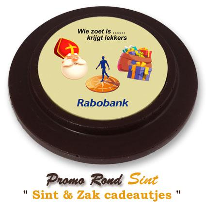 Chocolade Promo Rond Sinterklaas - Sint & Zak cadeautjes