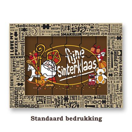 Chocolade Puzzel Sinterklaas met standaard bedrukking