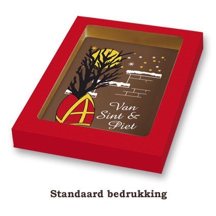 Chocolade Sinterklaaskaart met standaard bedrukking