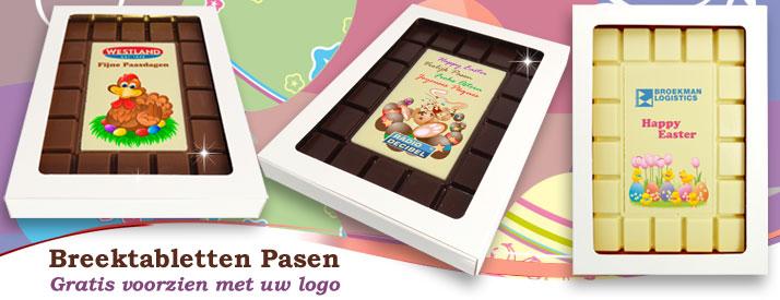 Chocolade Breektabletten Pasen