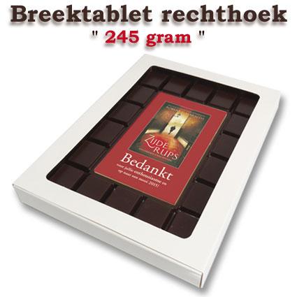 Chocolade Breektablet rechthoek