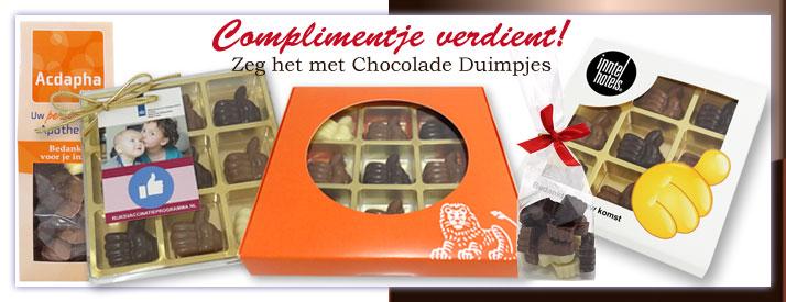 Chocolade Duimpjes Compliment