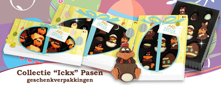 Chocolade collectie Ickx Pasen