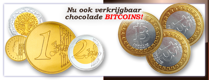 Chocolade-Euromunten-Bitcoin-Cryptomunten