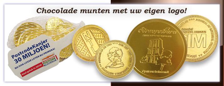 Chocolade munten met logo