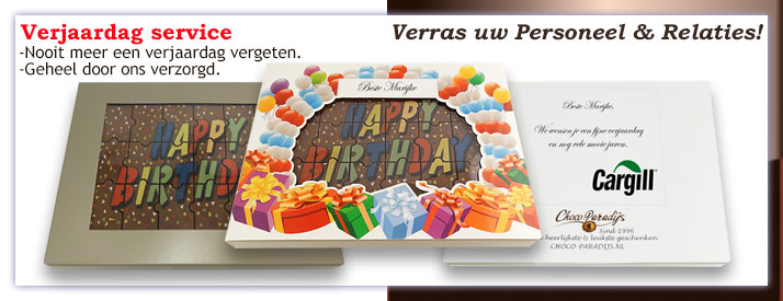 Verjaardags service - Happy Birthday