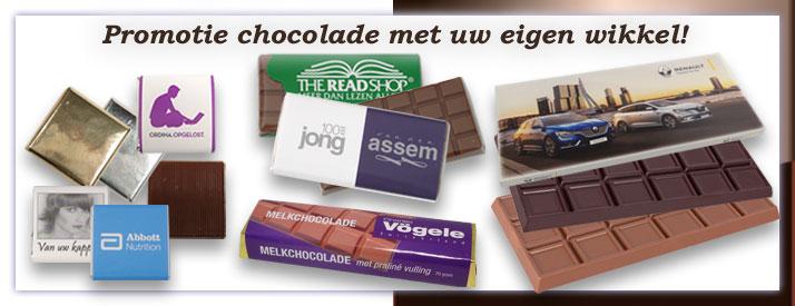 Chocoladereep met uw bedrukte wikkel