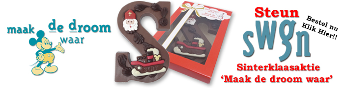 Chocoladeletters Sinterklaasaktie SWGN