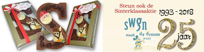 Sinterklaas aktie SWGN Chocoladeletters