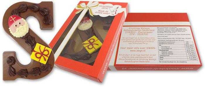 Chocoladeletters Sinterklaas aktie SWGN