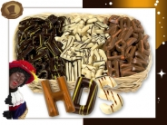Assorti 2,2 KG  Chocolade Mini-letters