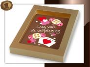 Chocolade kaart <br/>dag van de verpleging
