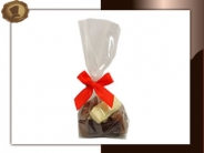 Zakje chocolade auto's Per 100 gram verpakt