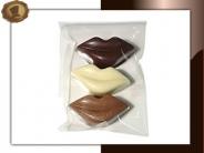 Chocolade Lippen Per 3 stuks