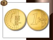 Chocolade muntjes 75 mm
