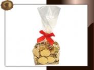 Zakje Chocolade munten Per 250 gram verpakt