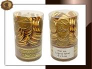 Chocolade munten Koker (groot)