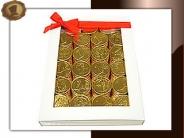 Witte vensterverpakking Chocolade munten