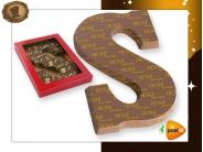 Transfer chocoladeletter  met logo