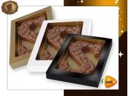 Chocoladeletter 135 gram Schildpadmotief