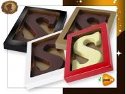 Chocoladeletter 135 gram Streepjesmotief