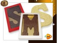 Chocoladeletter 175 gram  Schildpadmotief