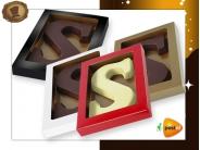 Chocoladeletter 175 gram Streepjesmotief