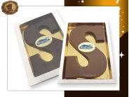 Chocoladeletter S <br/>met logo