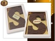 Chocoladeletter 175 gram  Schildpad met logo
