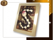 Extra grote Chocolade Spuitletter