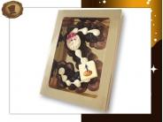 Extra grote<br>Chocolade Spuitletter met logo