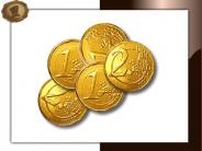Chocolade muntjes 28 mm