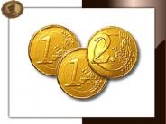 Chocolade muntjes 38 mm