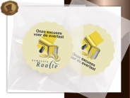 Logo Choco's per stuk  Excuses schilderwerk