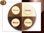 Choco puntjes  Bedankt in diverse talen