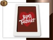 Chocolade Kaart <br>Super Bedankt