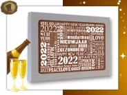 """Nieuwjaarskaart <br/>""""2019 Zilver"""""""