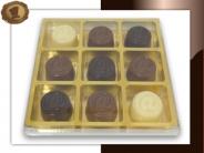 Chocolade Apenstaartjes <br/>9 vaks geschenkdoosje