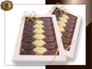 Witte vensterverpakking  Chocolade Lippen