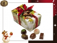 Ballotin Kersthulst  21 Pralines / 300 gram