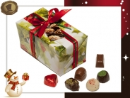 Ballotin Kersthulst  48 Pralines / 700 gram