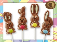 Chocolade Paaslollies  Funny Bunnies